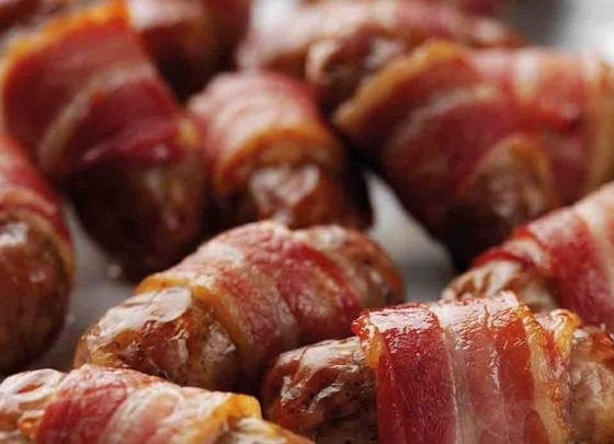 Pigs in blankets, Christmas Lunch, The English House, Singapore